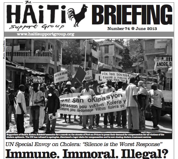 Murderous Charade: Haiti Briefing 74 – UN response to Cholera Epidemic