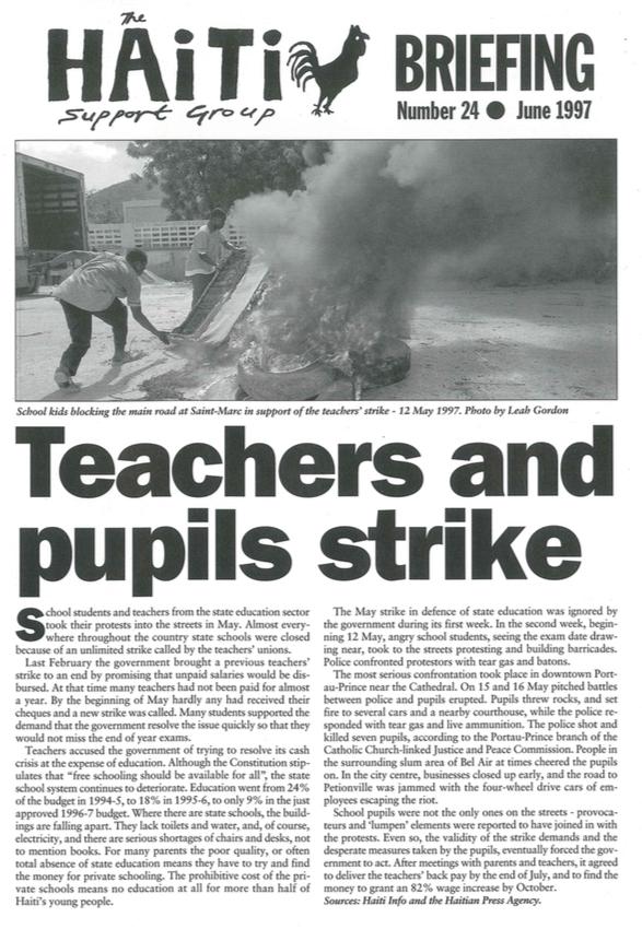 Teachers and Pupils Strike (HB 24)