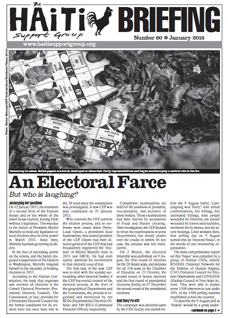 An Electoral Farce: But Who Is Laughing? (HB80)