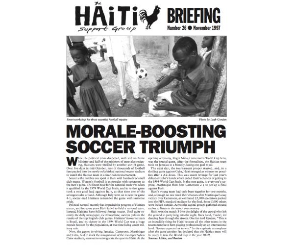 Morale-Boosting Soccer Triumph (HB26)