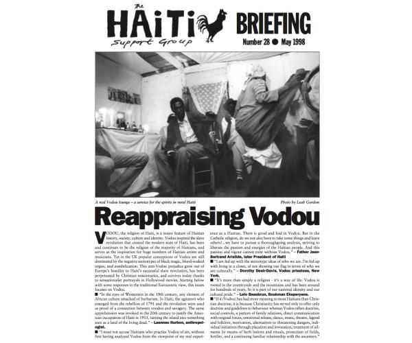 Reappraising Vodou (HB28)