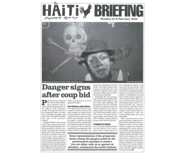 Danger Signs After Coup Bid (HB45)