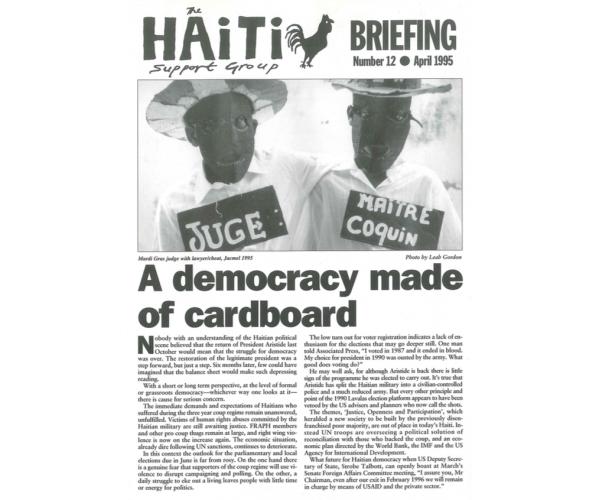 A Democracy Made of Cardboard (HB12)