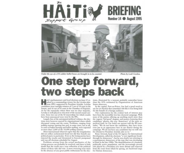 One Step Forward, Two Steps Back (HB14)