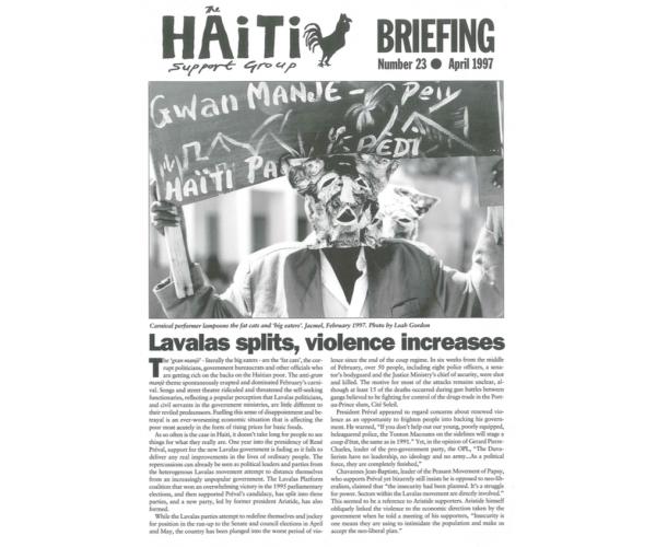 Lavalas Splits, Violence Increases (HB23)