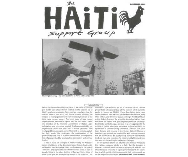 Mourning Democracy in Haiti (HB5)