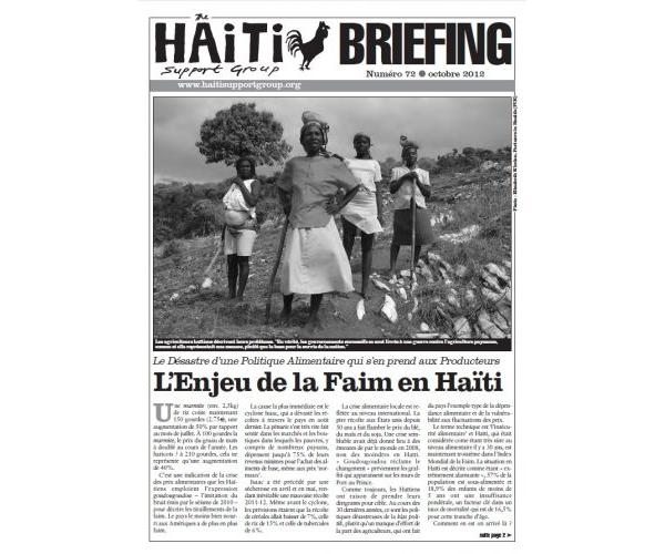 L'Enjeu de la Faim en Haïti (HB72)