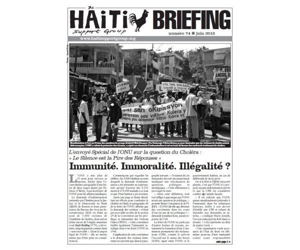 Immunité. Immoralité. Illégalité? (HB74)