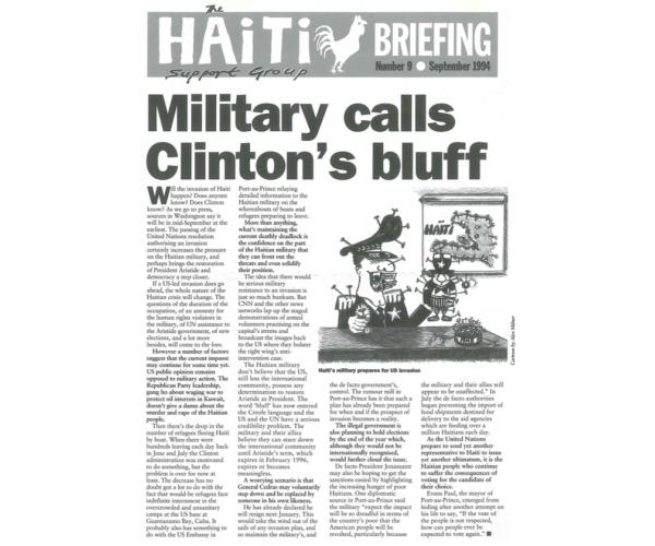 Military Calls Clinton