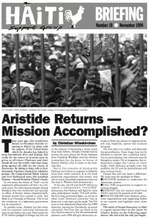 Aristide Returns — Mission Accomplished? (HB10)