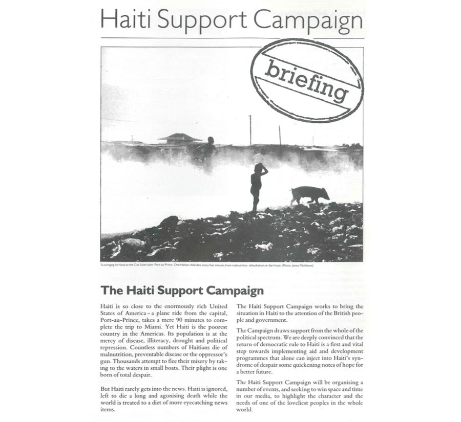 The Haiti Support Campaign (HB1)